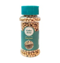 5mm Gold Sugar Pearls-80g