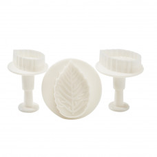 Rose Leaf Plunger Cutters Set