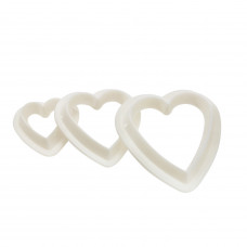 Heart Fondant Cutters Set