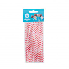 6in Red Hearts Cake Pops Sticks - 35Pcs