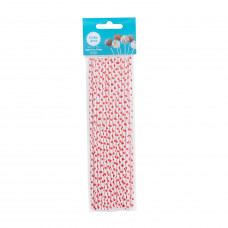 8in Red Hearts Cake Pops Sticks - 25Pcs