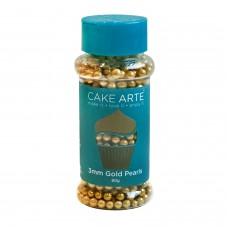 3mm Gold Sugar Pearls-80g