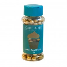 8mm Gold Sugar Pearls-75g