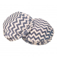Chevron Mini Cake Cases - 100Pcs