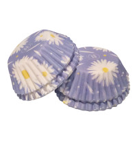 Daisies Mini Cake Cases - 100Pcs
